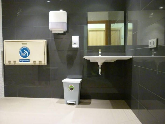Baño con cambiador para bebés