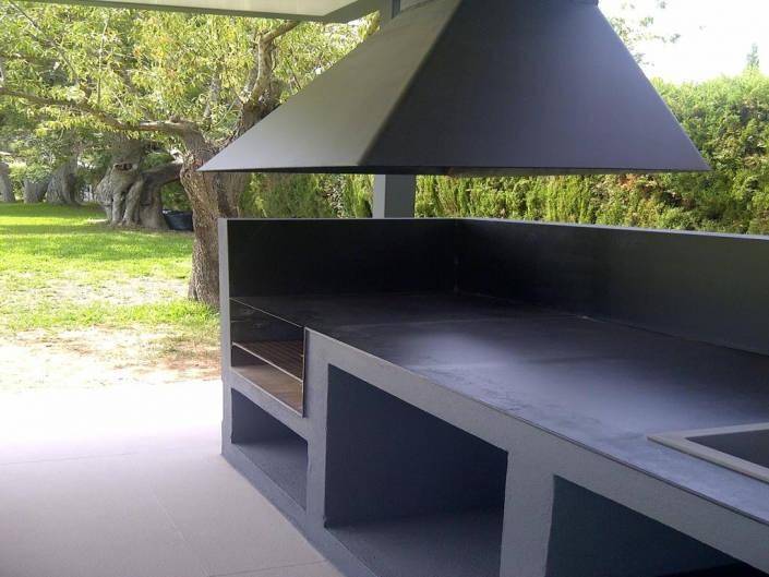 Pergola y barbacoa de dise o espacios y proyectos - Disenos de barbacoas exteriores ...