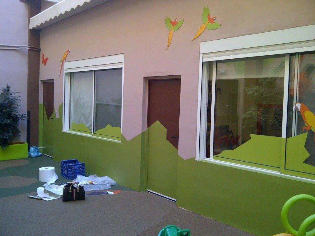 Reforma patio exterior en escuela infantil hamelin valencia - Vinilos decorativos en valencia ...