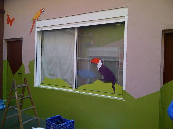 Decoración de ventanas con vinilos