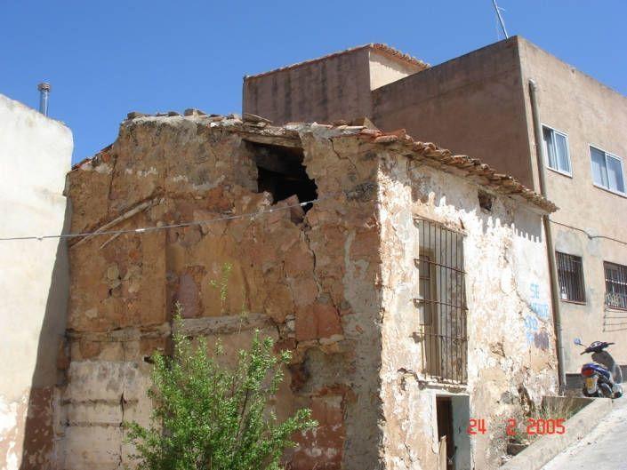Estado original de la fachada y medianera