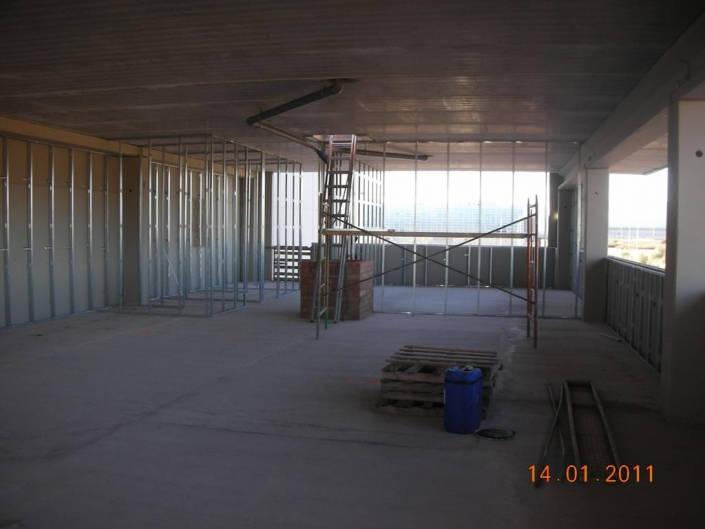 Estructura en edificio de oficinas