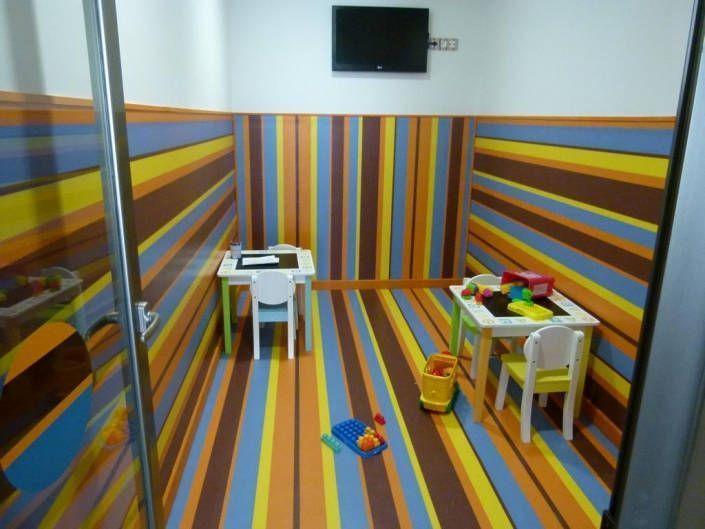 Pavimento vinílico en zona infantil