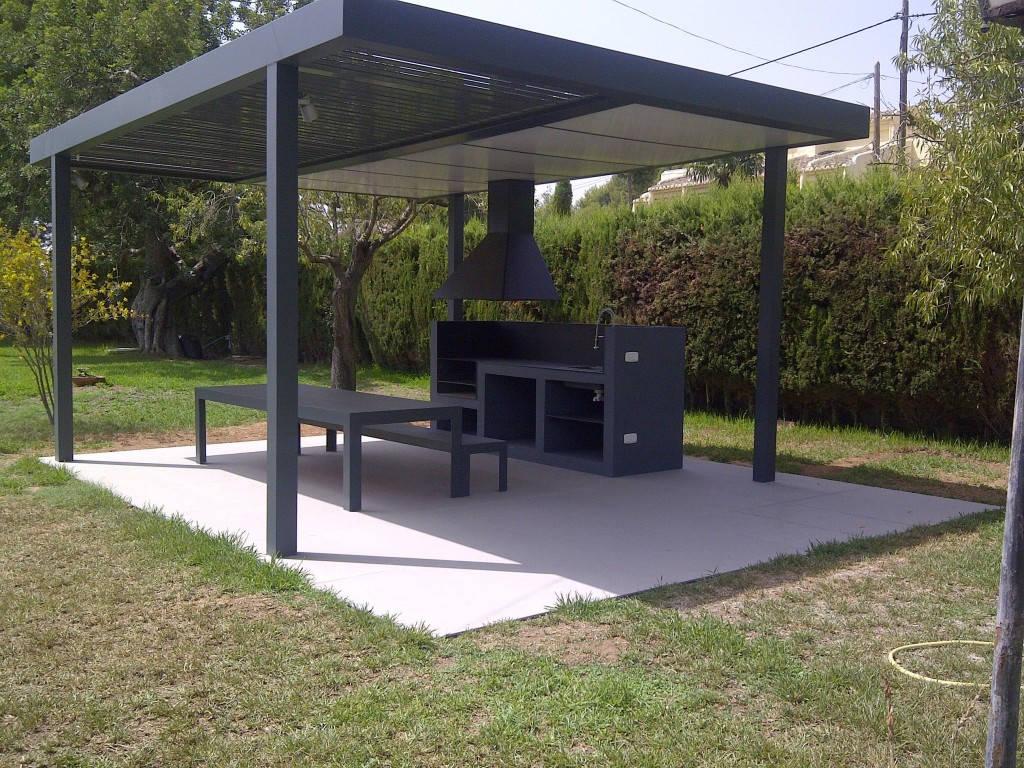 Pergola y barbacoa de dise o espacios y proyectos - Perfiles aluminio para pergolas ...