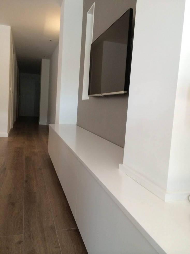 Reforma de vivienda en monteolivete valencia espacios y for Muebles tv valencia