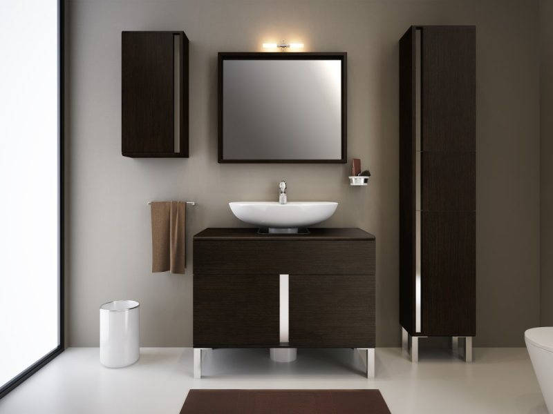 Muebles de ba o espacios y proyectos for Mueble para lavabo con pedestal