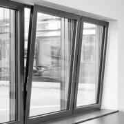 DEU, Deutschland, Bayern, Rosenheim, ift, Institut für Fenstertechnik, fassadenintegrierte Photovoltaikanlage mit Schueco-Duennschichtmodulen;