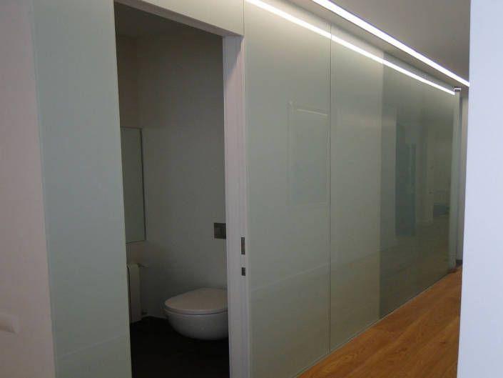panelado vidrio pasillo