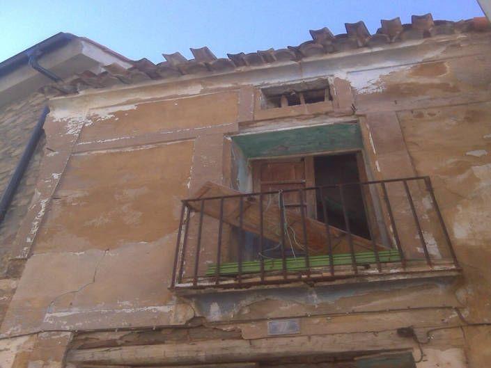 Estado original de la fachada trasera