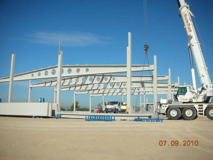 Montaje-estructura prefabricada de hormigón