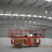 Vista interior de cubierta prefabricada