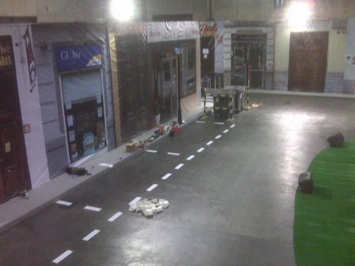 Zona de aparcamiento de vehiculos