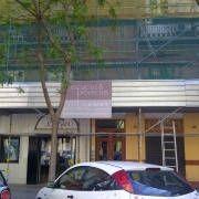 andamio paso peatones rehabilitacion fachada