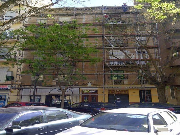 montaje andamio fachada rehabilitacion