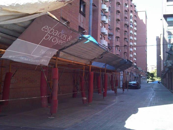 proteccion paso peatonal andamio-rehabilitacion fachada