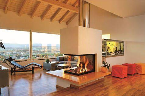 Estufas y chimeneas espacios y proyectos for Chimenea de gas en un piso